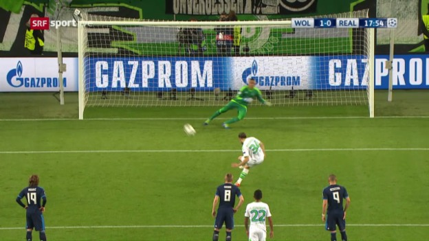 Video «Live-Highlights Wolfsburg - Real» abspielen