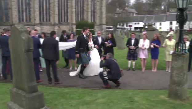 Video «Andy Murray und Kim Sears haben geheiratet (unkomm.)» abspielen