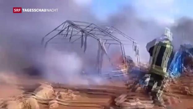 Video «Angriff auf syrisches Flüchtlingscamp» abspielen