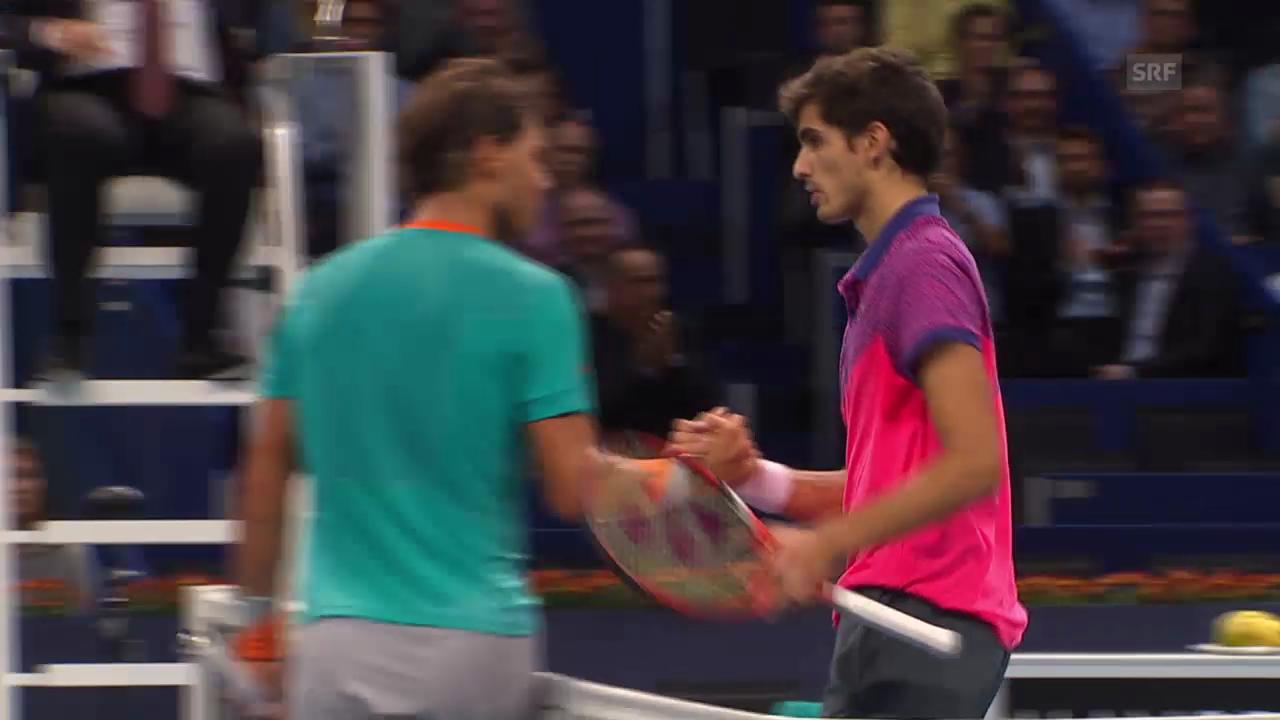 Tennis: Swiss Indoors, Nadal-Herbert, entscheidende Ballwechsel