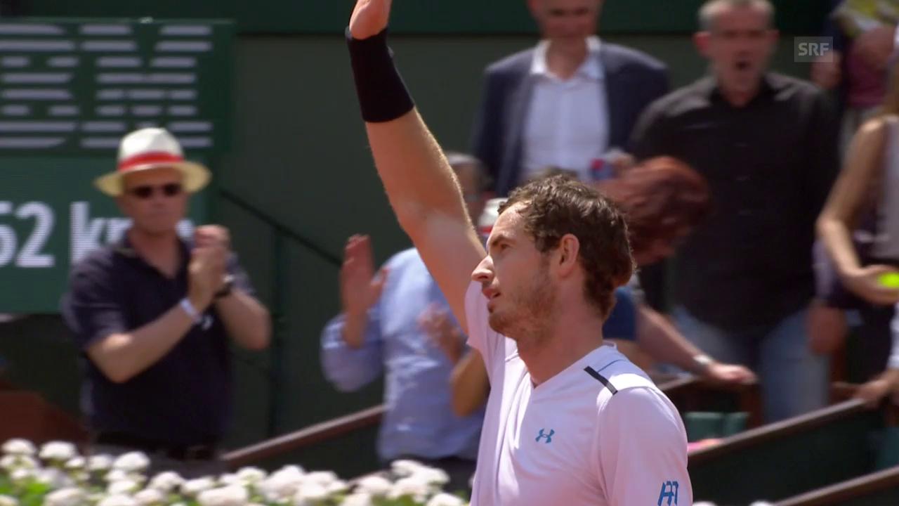 Murray marschiert in die Viertelfinals
