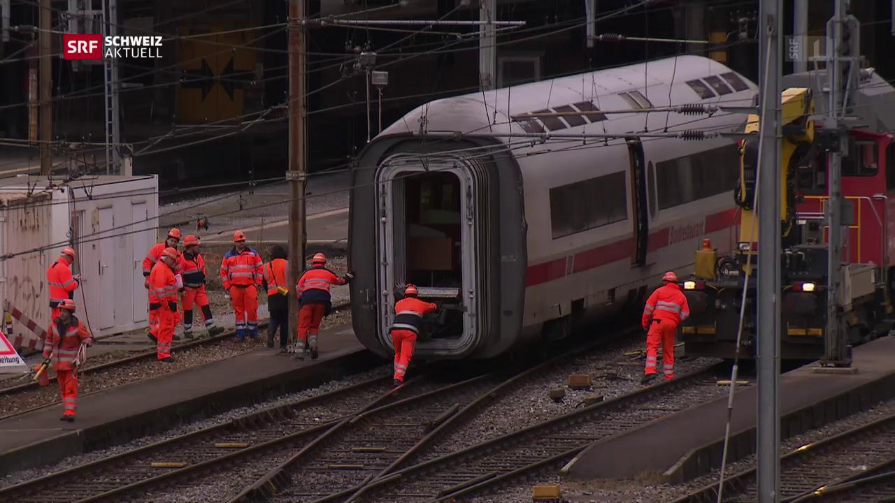 Aufräumen am Bahnhof Basel