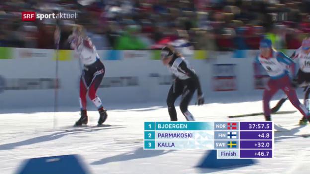 Video «Von Siebenthal überzeugt im Skiathlon» abspielen