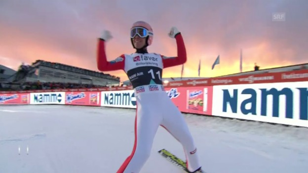 Video «253,5 Meter: Stefan Kraft ist der neue «Vogelmensch»» abspielen