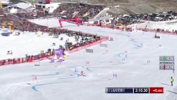 Video «Ski: Der 2. Lauf von Fabienne Suter («sportlive»)» abspielen