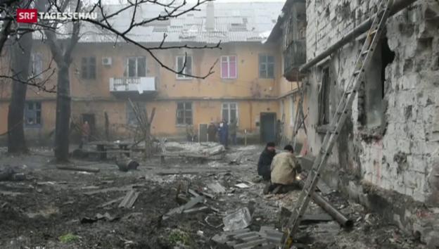 Video «Ukraine stockt Truppenbestände auf» abspielen