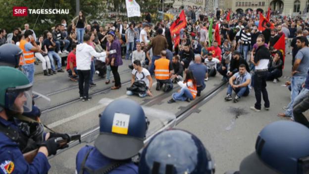 Video «Demonstranten und Polizisten verletzt» abspielen