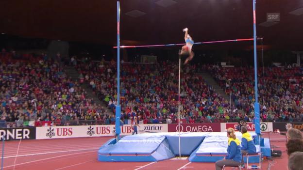 Video «Leichtathletik: Stabhochsprung-Gold für Sidorowa» abspielen