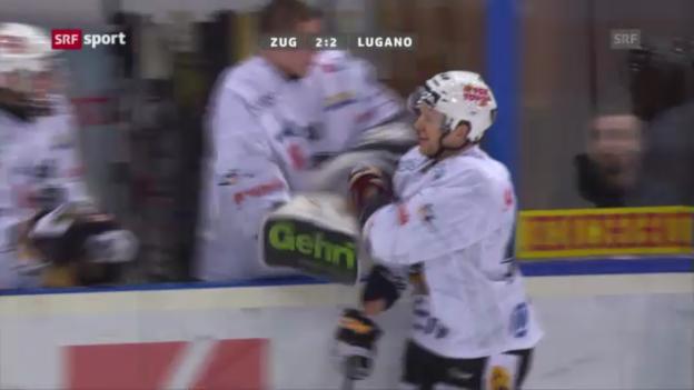Video «Spielbericht EV Zug - HC Lugano («sportaktuell»)» abspielen