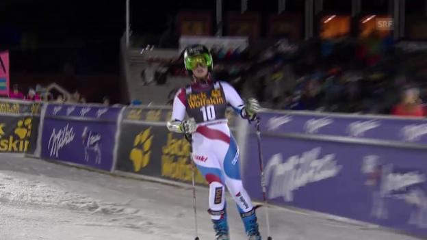 Video «Ski Alpin: Riesenslalom in Are, 2. Lauf Lara Gut» abspielen