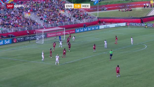 Video «Fussball: Frauen-WM, England-Mexiko» abspielen