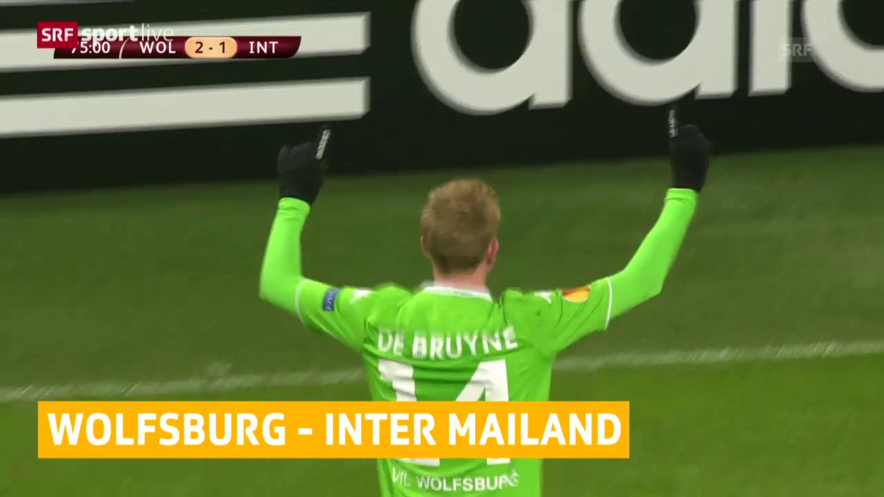 Fussball: Europa League, Achtelfinal-Hinspiel, Wolfsburg - Inter Mailand