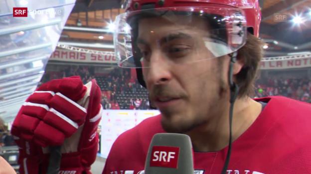 Video «Eishockey: Playoff-Viertelfinal Spiel 6, Lausanne - Bern, Stimmen Lausanne» abspielen
