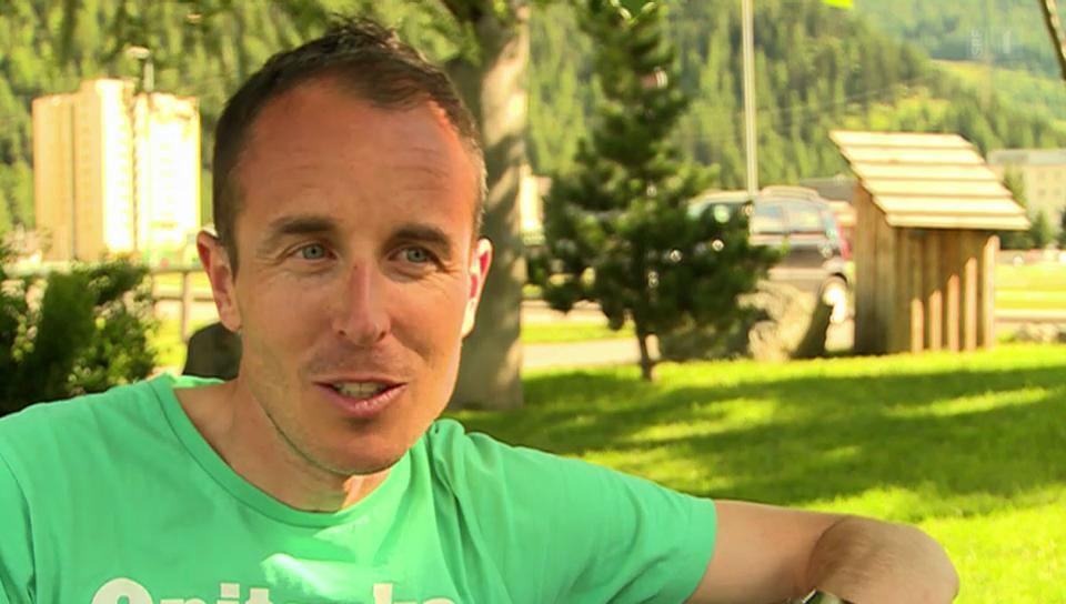 Viktor Röthlin vor den letzten 42 Kilometern seiner Karriere