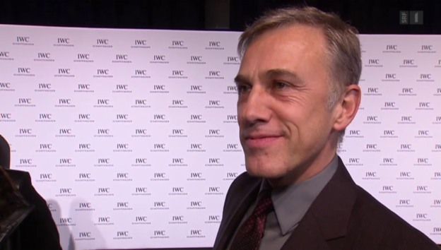 Video «Christoph Waltz gibt karge Antworten zum Bond-Dreh» abspielen