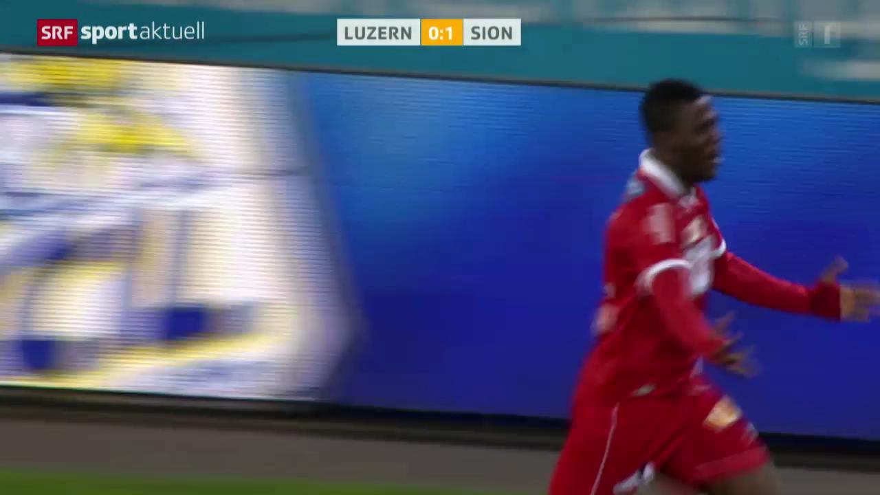 Fussball: Super League, Luzern - Sion