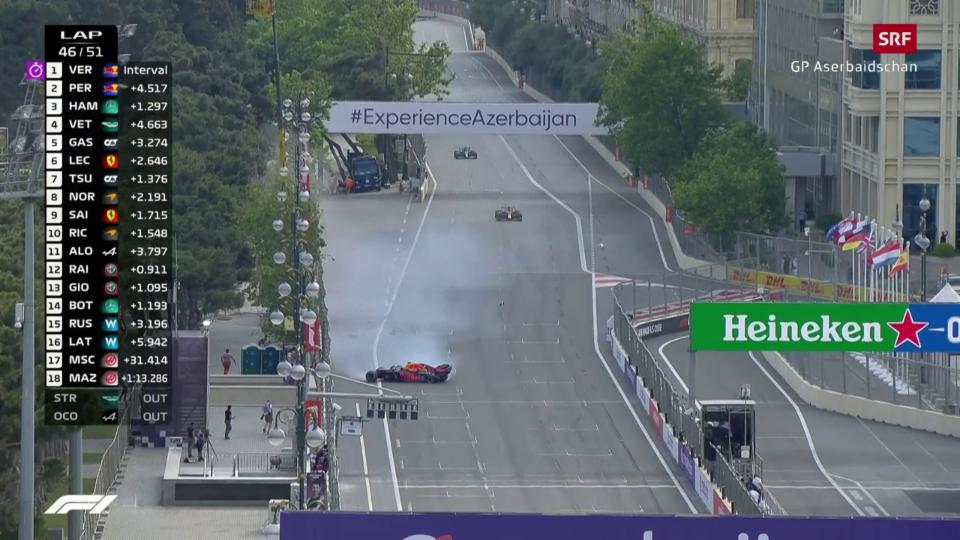 Crash da Verstappen