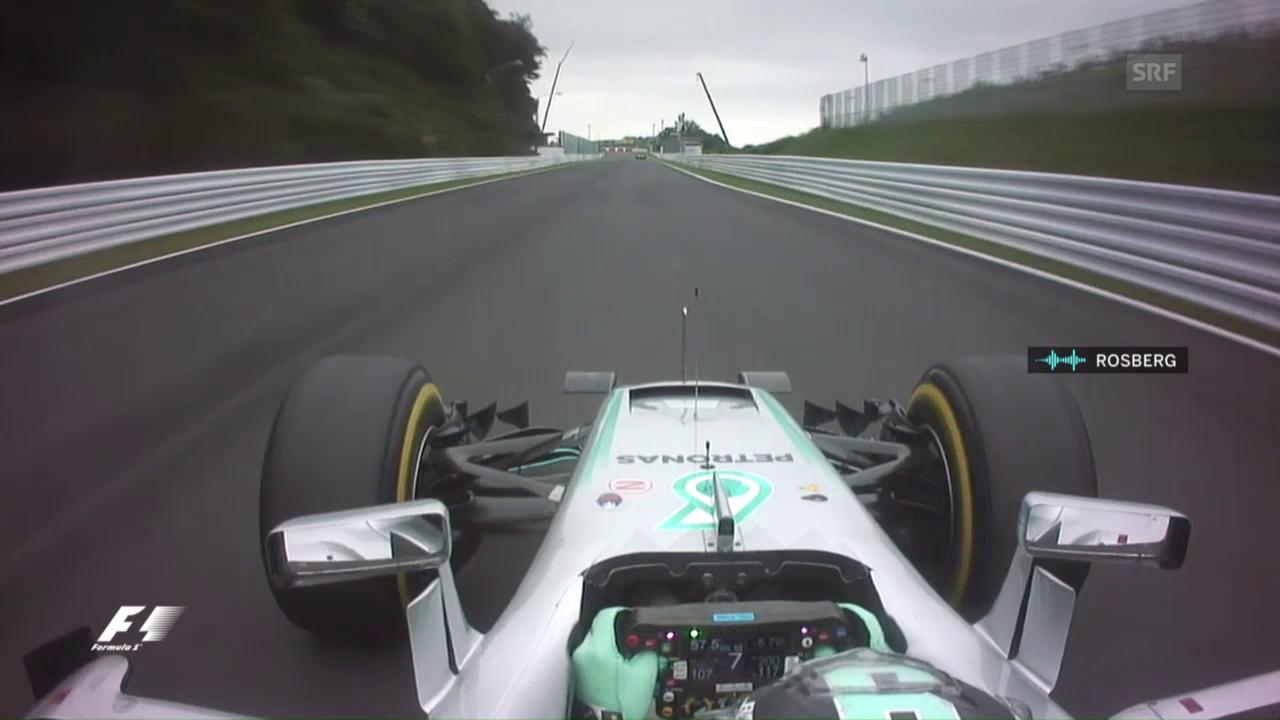 Nach Pole-Fahrt: Rosberg gibt Cockpit-Interview