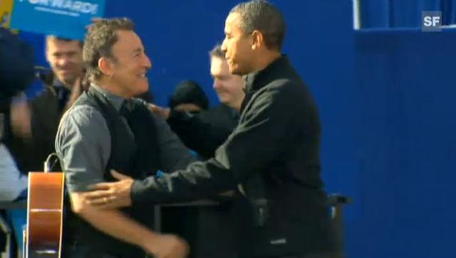 Bruce Springsteen singt für Obama