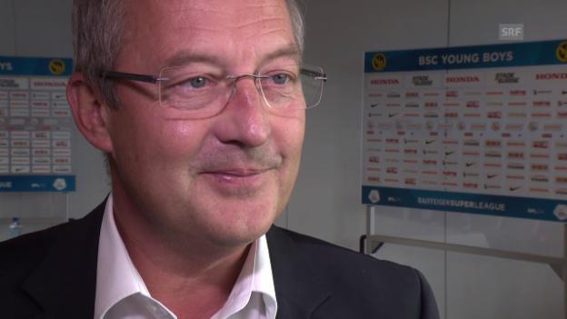 Video «YB-Sportchef Bickel zum neuen Trainer Hütter» abspielen