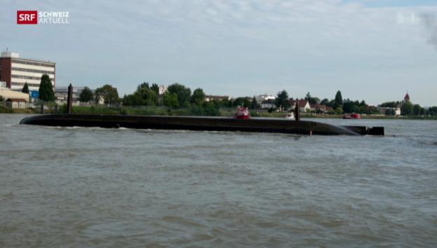 Video «Schiffskollision auf dem Rhein» abspielen