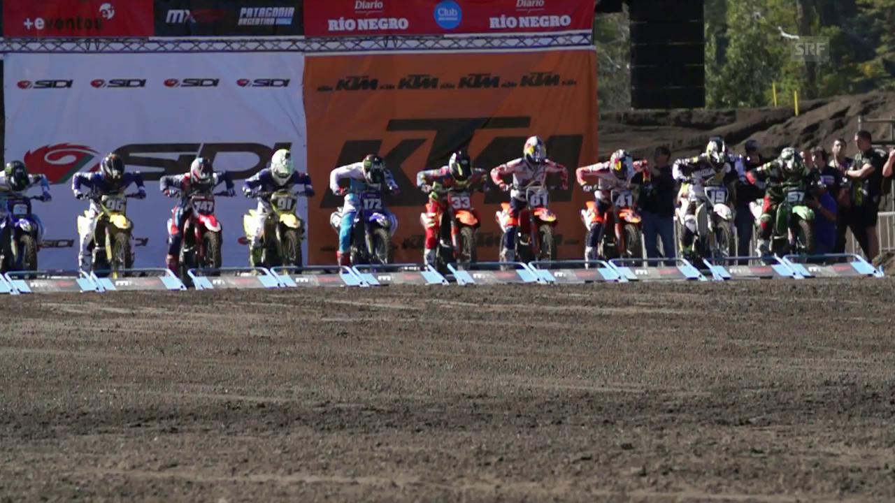 Jeremy Seewer erklärt das Startprozedere im Motocross