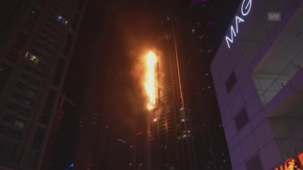 Video «Grossbrand im «Torch Tower»» abspielen