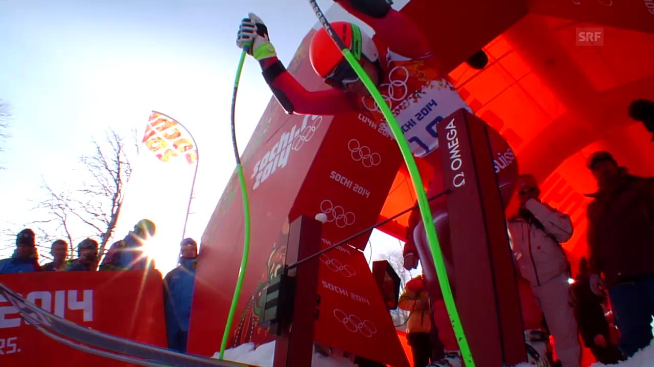 Ski, Super-G, Fahrt von Patrick Küng (sotschi direkt, 16.02.14)
