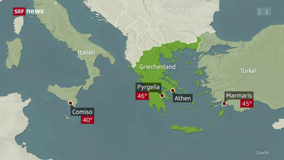 Unda da chalira en la regiun da l'ost da la Mar Mediterrana