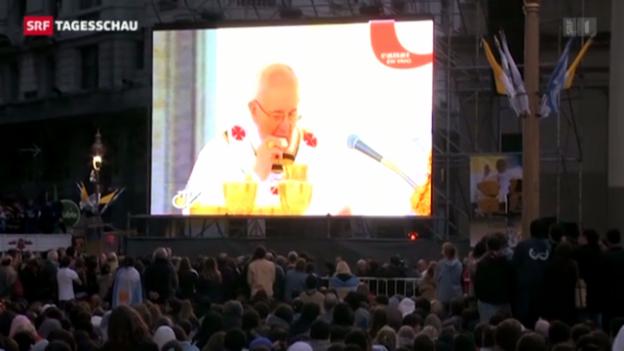 Video «Papst spricht zu Argentiniern» abspielen