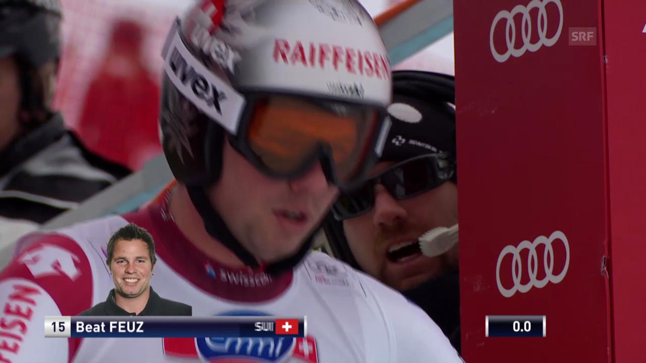 Ski: Abfahrt Wengen 2014, Fahrt von Beat Feuz