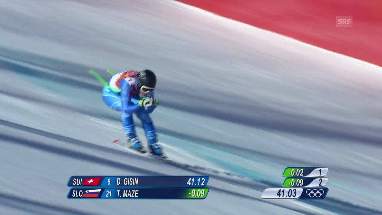 Ski: Abfahrt der Frauen, die Fahrt von Tina Maze (sotschi direkt, 12.02.2014)