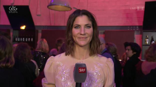 Video ««Glanz & Gloria» LIVE vom roten Teppich des Schweizer Filmpreises» abspielen