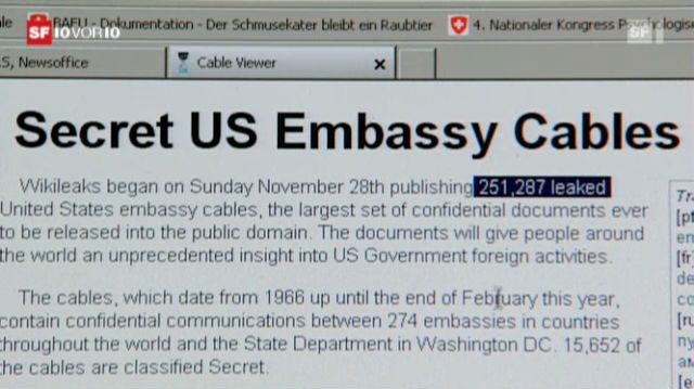 Wikileaks schockt Amerikas Diplomatie