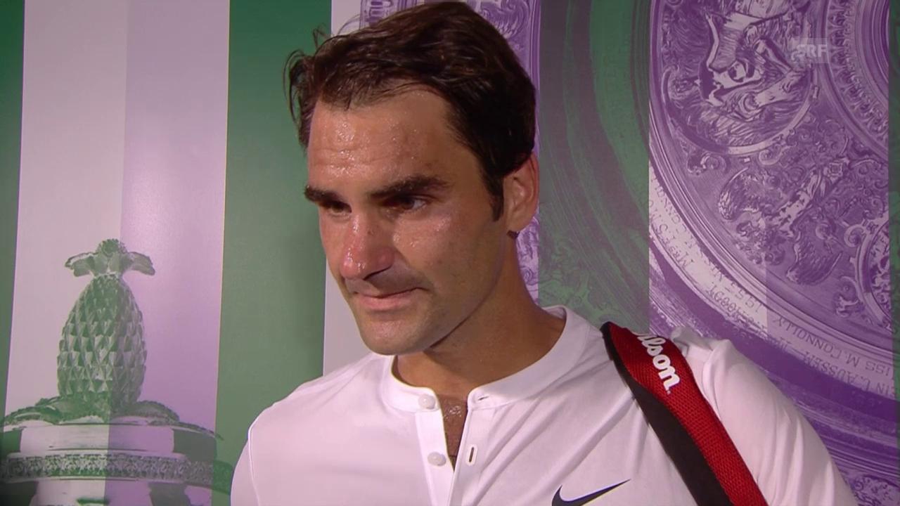 Tennis: Wimbledon, 1. Runde, Federer - Dzumhur, Interview Federer