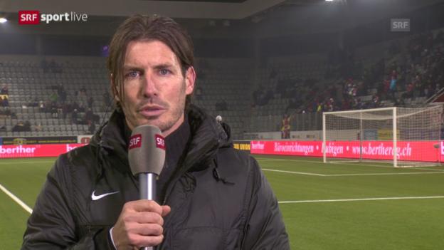 Video «Andres Gerber über die EL-Kampagne des FC Thun («sportlive», 12.12.2013)» abspielen