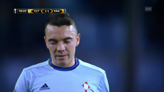 Video «Celta Vigo - Krasnodar: Das Spiel der frechen Tore» abspielen