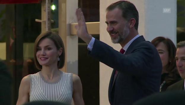 Video «Der spanische König Felipe mit Gattin Letizia in Mexiko» abspielen
