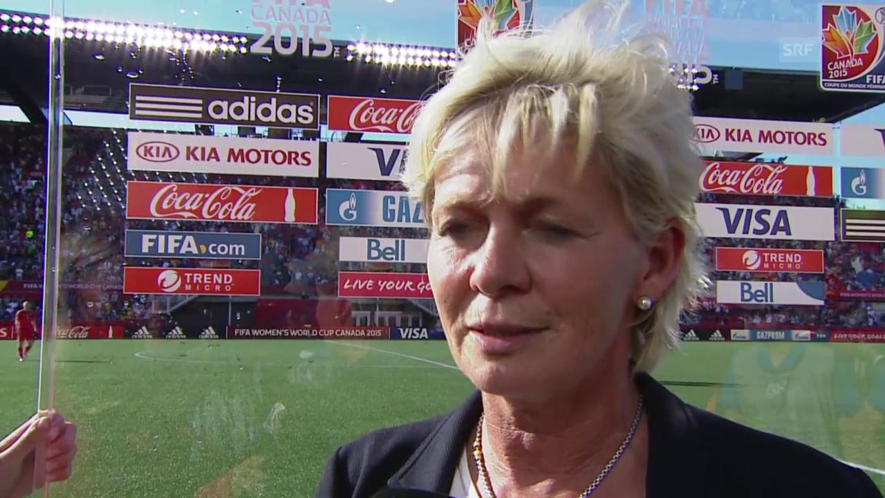 Fussball: Frauen-WM, Achtelfinal Deutschland - Schweden, Interview Neid