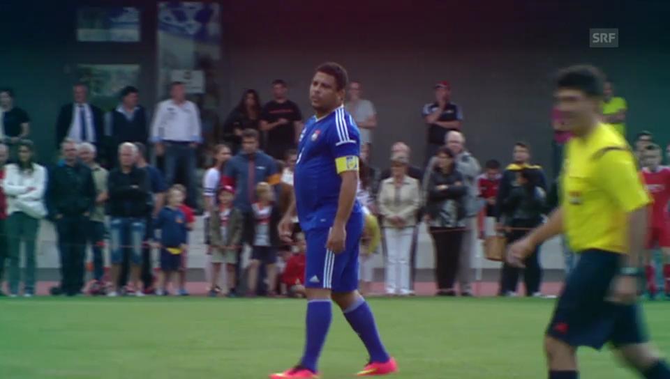Ronaldo beim Fussballspielen in Visp