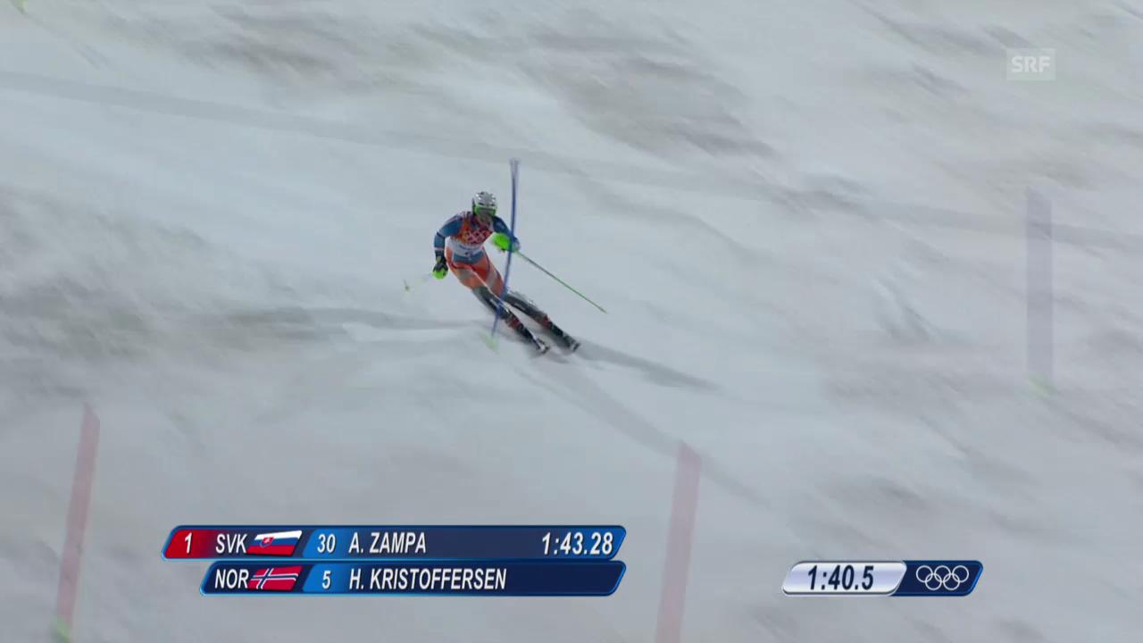 Ski: 2. Lauf Henrik Kristoffersen (sotschi direkt, 22.02.2014)