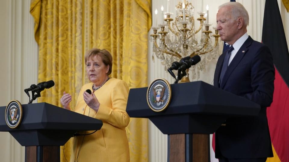 Merkel ein letztes Mal bei einem US-Präsidenten