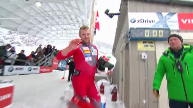 Video «Bob: Weltcup Lake Placid, 2. Lauf Rico Peter» abspielen