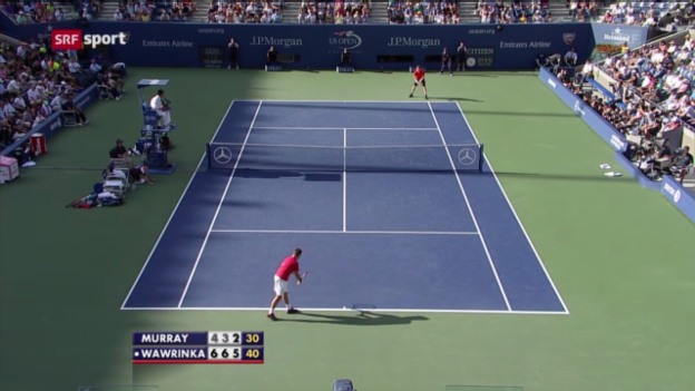 Video «Tennis: US Open, Wawrinka -Murray («sportaktuell»)» abspielen