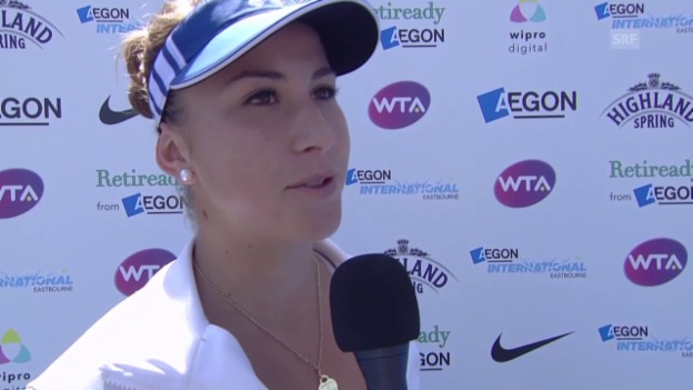 Video «Tennis: WTA Easbourne, Interview Belinda Bencic» abspielen