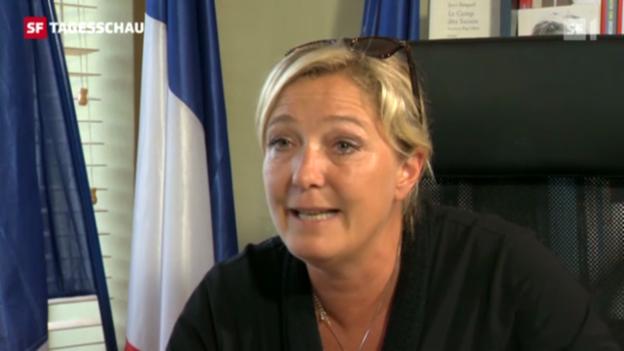 Video «Marine le Pen wirbt um die SVP» abspielen