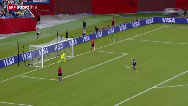 Video «Fussball: Frauen-WM, Viertelfinal Deutschland - Frankreich, Penaltyschiessen» abspielen