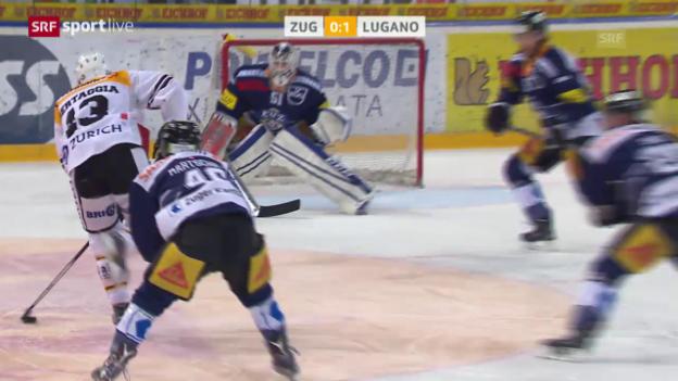 Video «Alessio Bertaggias Tor und Assist in der Playoff-Serie gegen Zug» abspielen