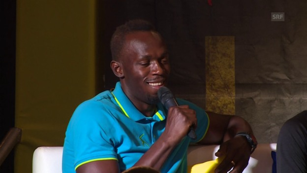 Video «Bolt vor letztem Heimmeeting: «Die Energie der Zuschauer wird mir fehlen»» abspielen