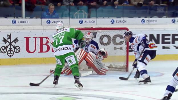 Video «Eishockey: Spengler Cup, Ufa - Zagreb» abspielen